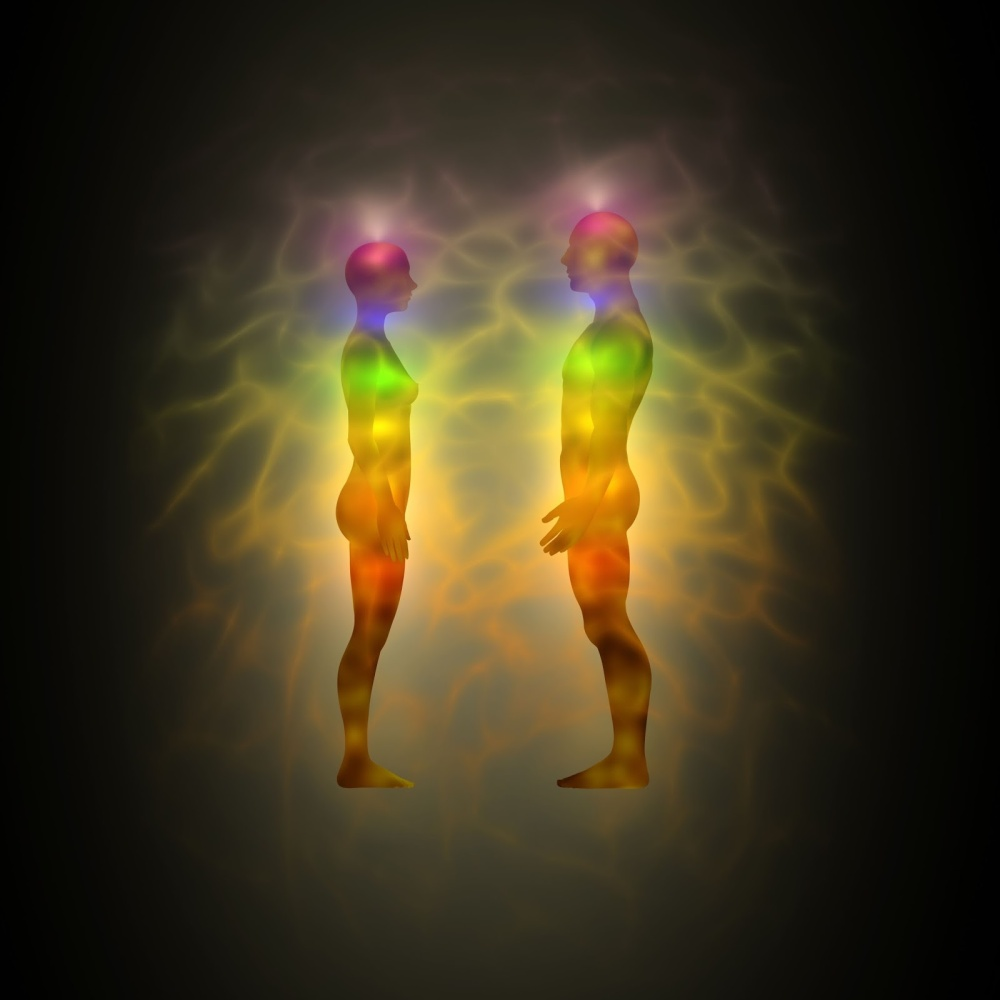 male female chakras